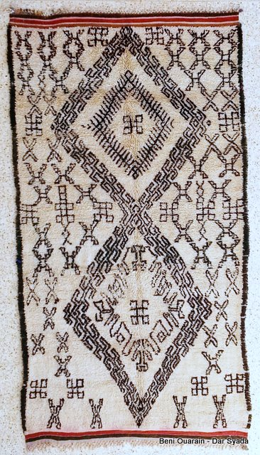 Referenssit Beni Ouarain moroccan rugs BO16001A 850 USD