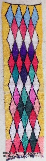 Archive-Sold Boucherouite moroccan rugs L09607 au Maroc