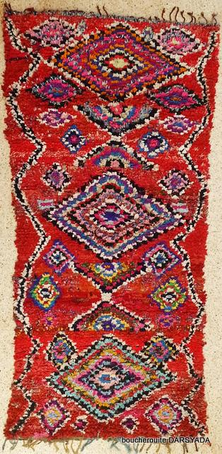 Referenssit Boucherouite moroccan rugs TC18171  690 USD