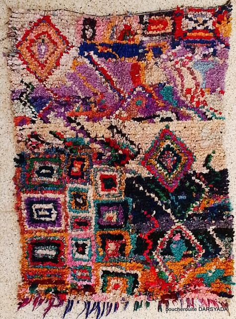 Archive-Sold Boucherouite moroccan rugs TC15522 GAL DEMESURE