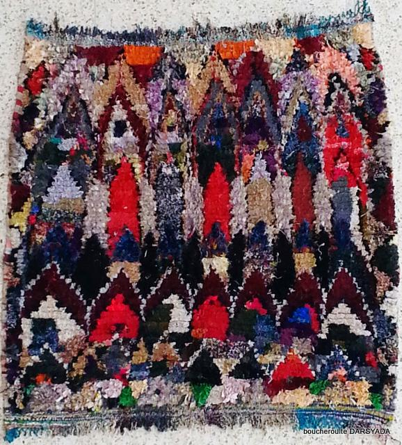 Archive-Sold Boucherouite moroccan rugs TC17054  MARTINE
