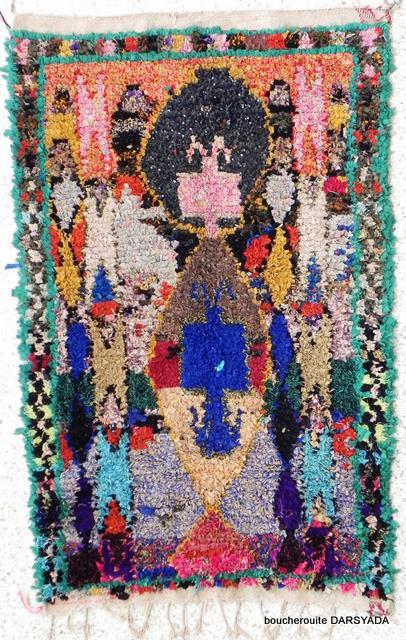Archive-Sold Boucherouite moroccan rugs TC06367 TEALIA