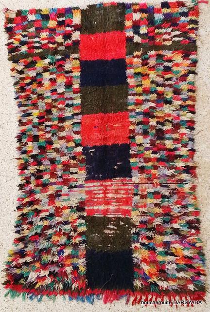 BOUCHEROUITE Boucherouite Large moroccan rugs L16273