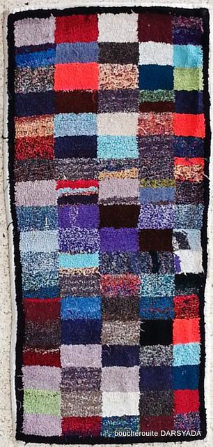 BOUCHEROUITE Boucherouite Medium moroccan rugs T19673 Zindekh