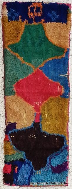 Boucherouite  moroccan rugs TT19667 Zindekh  RESERVED BRITTANY