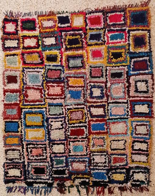 Boucherouite  moroccan rugs L20014