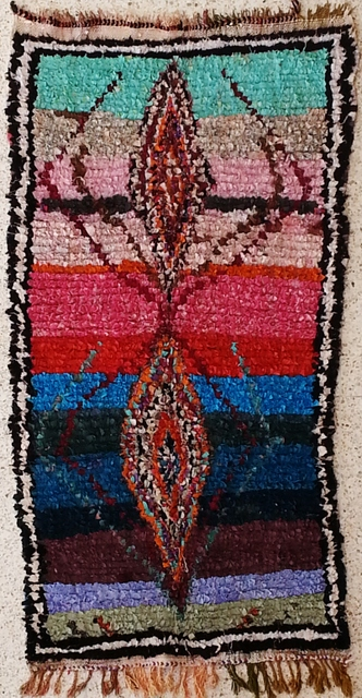 Archive-Sold Boucherouite moroccan rugs TC21083 à la maison