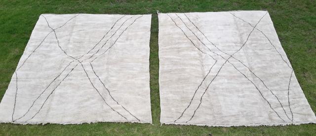 Referenssit Beni Ouarain moroccan rugs BO21440  et BO21441 VENDUS