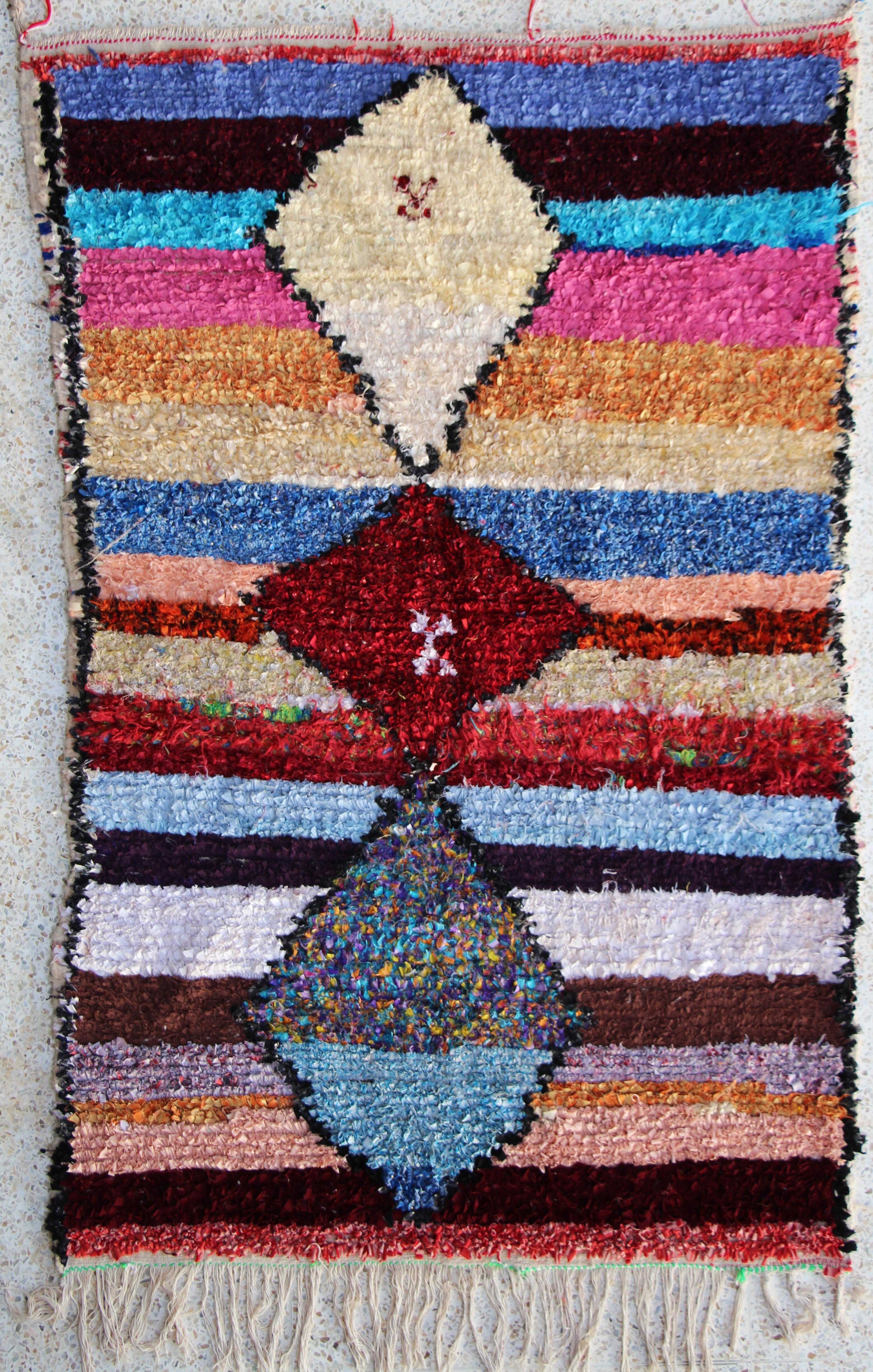 BOUCHEROUITE Boucherouite Medium moroccan rugs TC23643