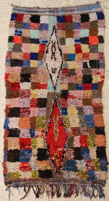 Boucherouite  moroccan rugs T24202