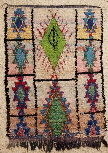 Boucherouite  moroccan rugs T25526