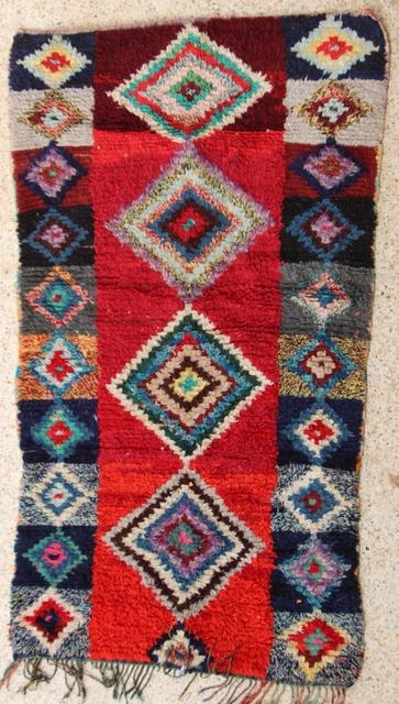 Boucherouite  moroccan rugs T28147