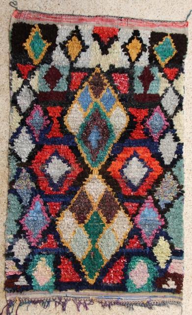 Boucherouite Large moroccan rugs L28148