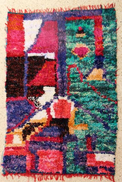 Archive-Sold Boucherouite moroccan rugs TC28495 Essaouira