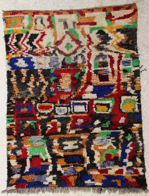 WOOL Rugs - BENI OURAIN Boujad and coloured Beni Ourain moroccan rugs VGH28602