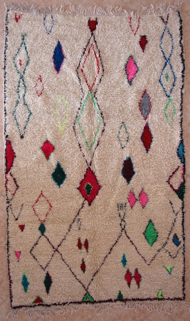 Archive-Sold Azilal and Ourika moroccan rugs AZ29027   222 euros  255 usd