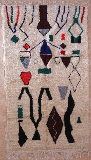 Referenssit Azilal and Ourika moroccan rugs AZ29037 175 euros 200 usd