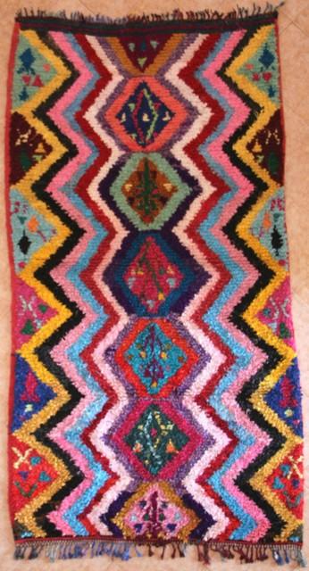 Boucherouite  moroccan rugs L29453