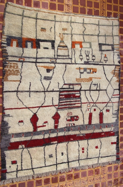 Referenssit Beni Ouarain moroccan rugs GH30560