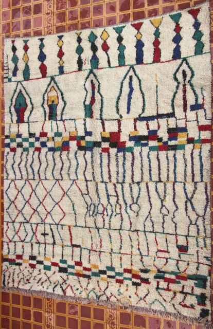 WOOL Rugs - BENI OURAIN Boujad and coloured Beni Ourain moroccan rugs GH30561 G2