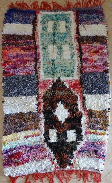 BOUCHEROUITE Collector Boucherouite moroccan rugs TC31594
