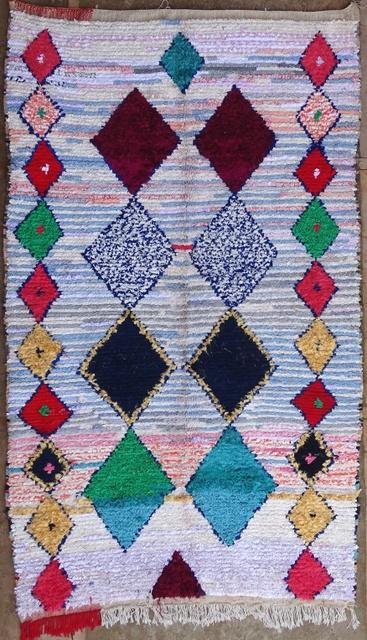 BOUCHEROUITE Boucherouite Medium moroccan rugs L32056