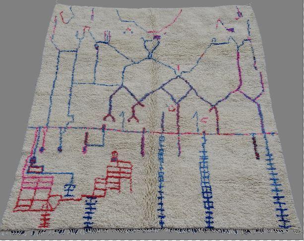 Referenssit Beni Ouarain moroccan rugs BO33012. au maroc
