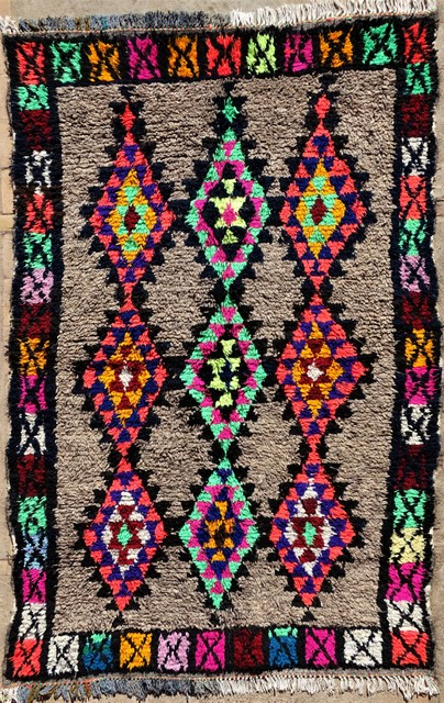 Archive-Sold Azilal and Ourika moroccan rugs AZ33045