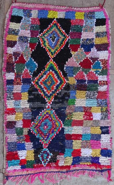 Archive-Sold Boucherouite moroccan rugs T32204 DRIJARD