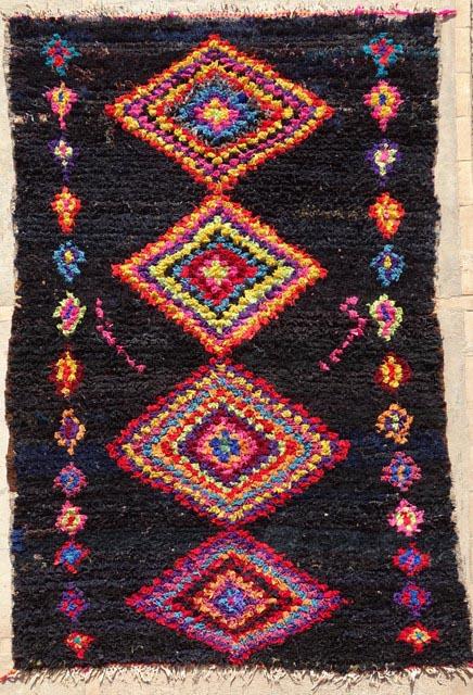 Archive-Sold Boucherouite moroccan rugs T33139 DRIJARD