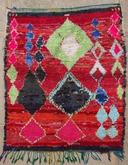 Archive-Sold Boucherouite moroccan rugs T34110 HUBERT