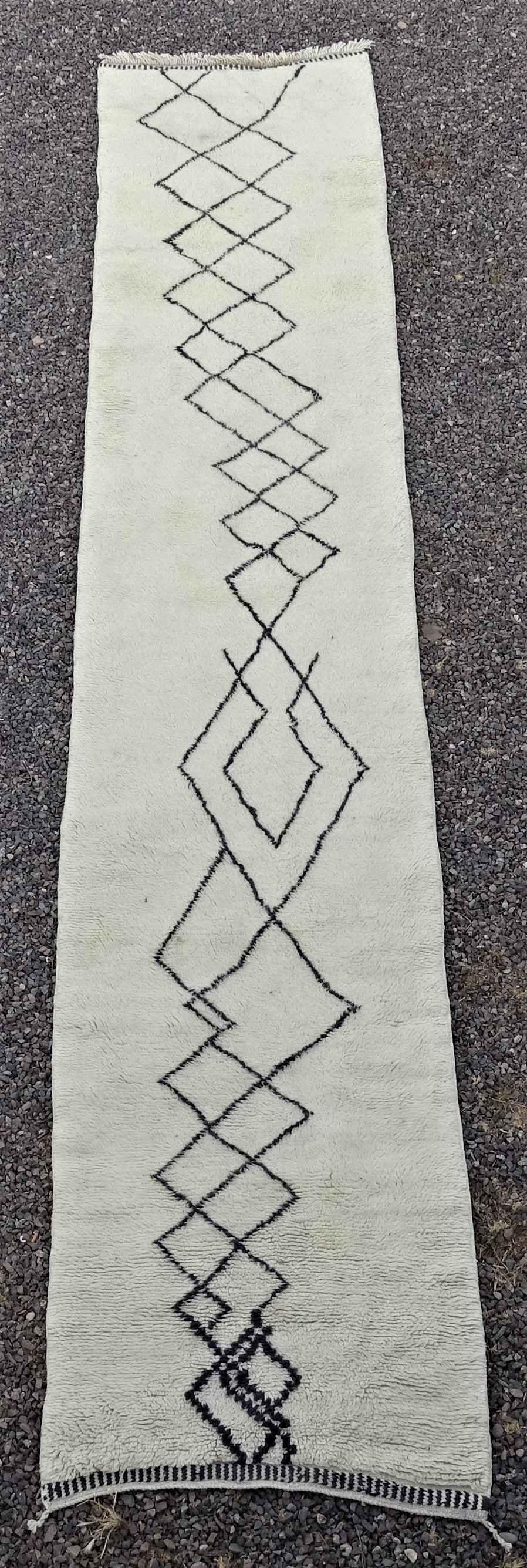 Archive-Sold Beni Ouarain moroccan rugs BO34217 ANE BLEU
