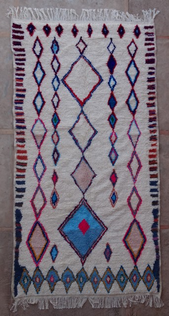 Archive-Sold Azilal and Ourika moroccan rugs AZ36218