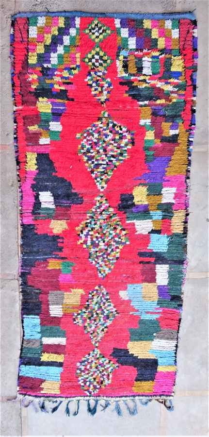 BOUCHEROUITE Collector Boucherouite moroccan rugs TC37049