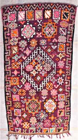 BENI OURAIN-WOOL RUGS Antique and vintage beni ourain and moroccan rugs ref : VBJ37169  BOUJAAD