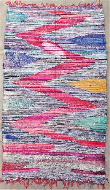 BOUCHEROUITE Boucherouite Large moroccan rugs LKC37285  kilim