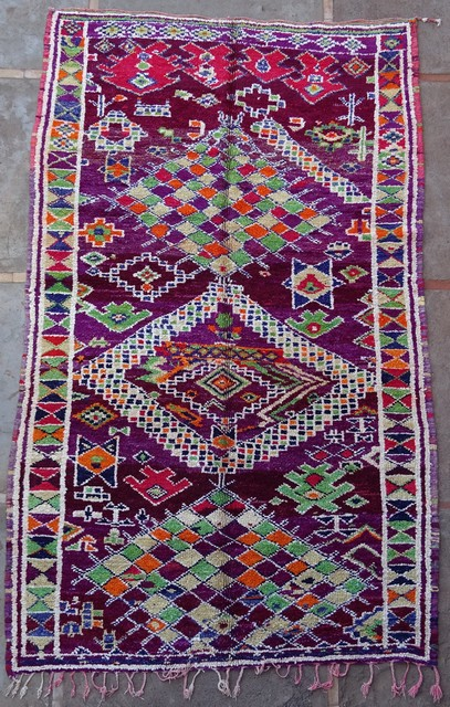 BENI OURAIN-WOOL RUGS Antique and vintage beni ourain and moroccan rugs moroccan rugs VBJ38023  BOUJAAD