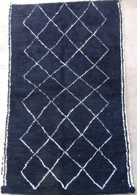 WOOL Rugs - BENI OURAIN Beni Ourain Custom made moroccan rugs black beni ourain