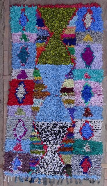BOUCHEROUITE Collector Boucherouite moroccan rugs TC38054
