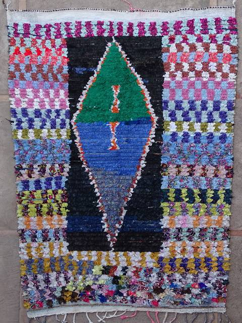 BOUCHEROUITE Boucherouite Large moroccan rugs L39163-130 € 145 $