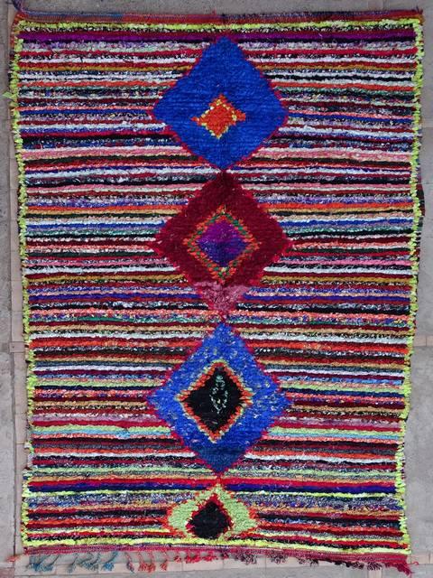 Boucherouite Large moroccan rugs L39164 130 euros  145 usd