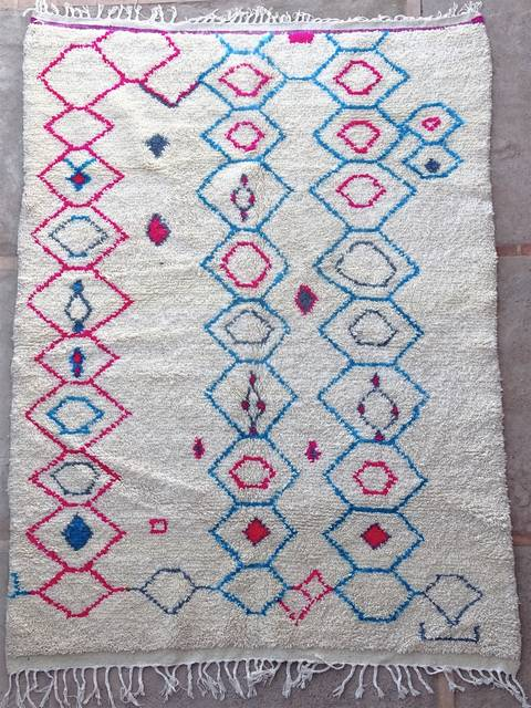 Archive-Sold Azilal and Ourika moroccan rugs AZ39040 RESERVE FABIENNE