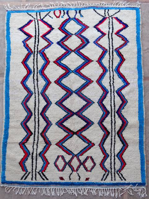 WOOL Rugs - BENI OURAIN Azilal and Ourika moroccan rugs AZ39079