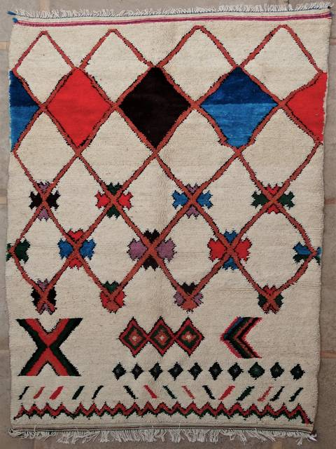 WOOL Rugs - BENI OURAIN Azilal and Ourika moroccan rugs AZ39101-215 euros 245 $