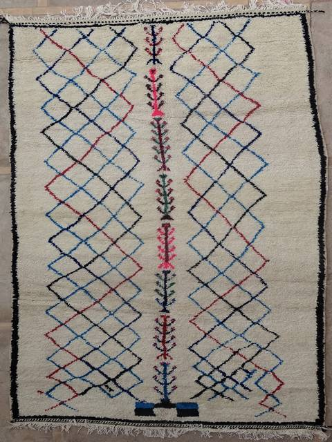 WOOL Rugs - BENI OURAIN Azilal and Ourika moroccan rugs AZ39107