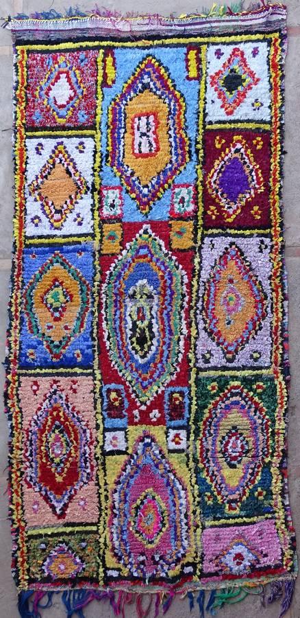 BOUCHEROUITE-KILIMS Boucherouite Grosse Berber Teppich L39198