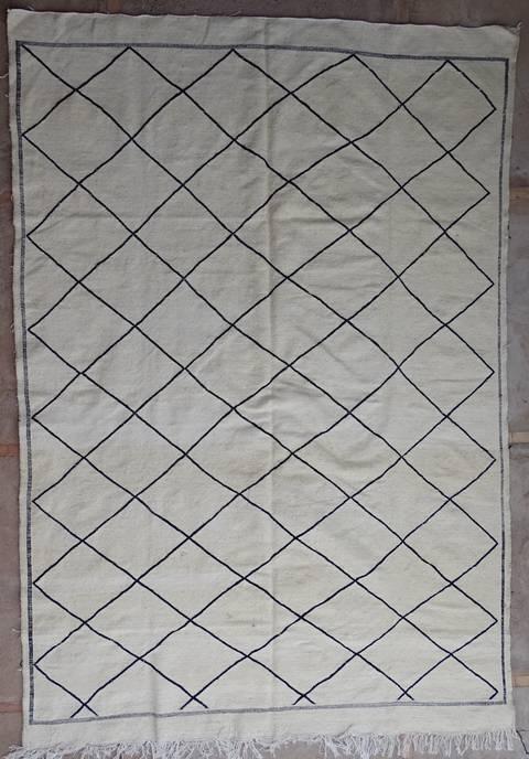 BOUCHEROUITE-KILIMS Boucherouite Grosse Berber Teppich LKBO39255  kilim