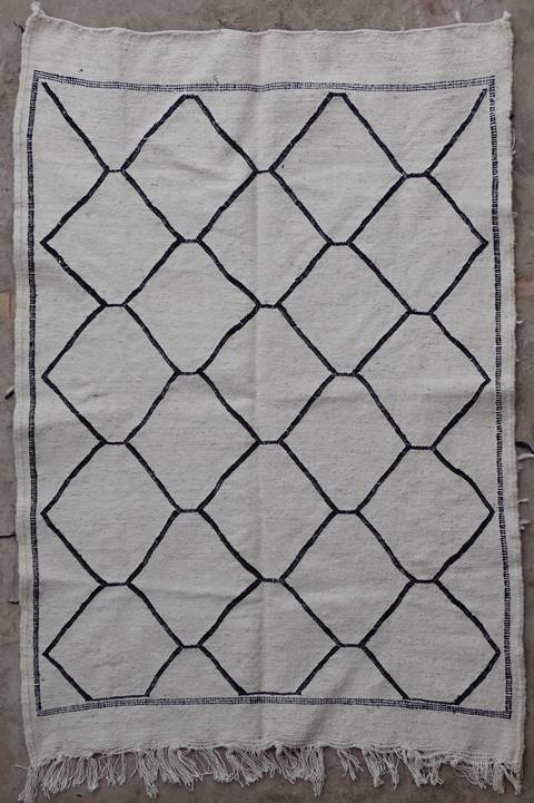 BOUCHEROUITE-KILIMS Boucherouite Small moroccan rugs TTKBO39256  kilim
