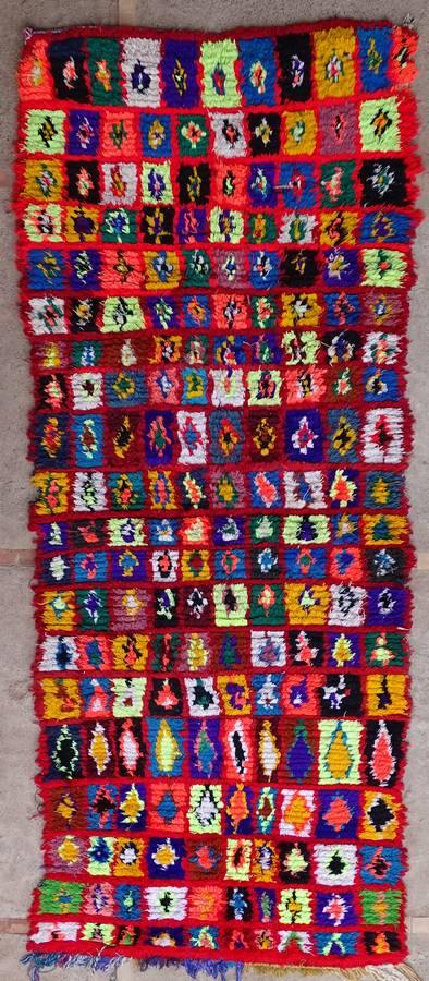BOUCHEROUITE Corridor Boucherouite moroccan rugs C39339 - 85 euros 95 usd