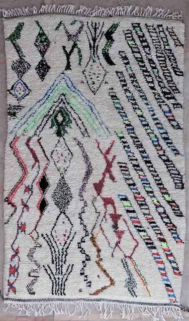 WOLLTEPPICHE - BENI OURAIN Azilal und Ourika Teppich AZ40019